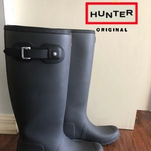 New HUNTER tall rain rubber boots 11 shoes booties